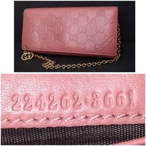 Auth Gucci Guccissima Wallet On Chain 12 CardSlots